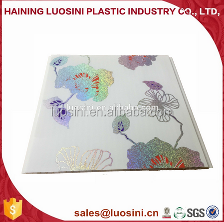 2017hot cheap hot stamping pvc ceiling panel in ceiling Tiles in China