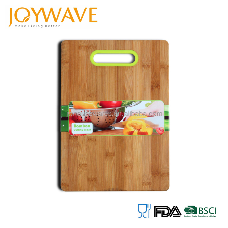2017 new product eco friendly organic bamboo cutting board with silicone