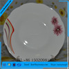 hot sale whole ceramic dinnerware porcelain floral flat plate-linyi