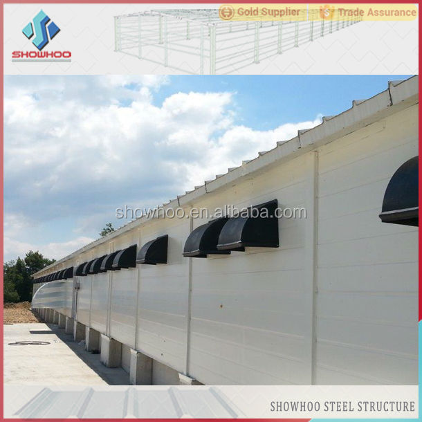 Light weight steel structure prefabricated light steel structure industrial chickens houses for sale