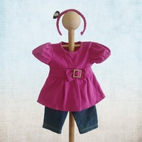 New product for 18 inch pink 18 doll clothes patterns/american girl doll clothes wholesale/make doll clothes