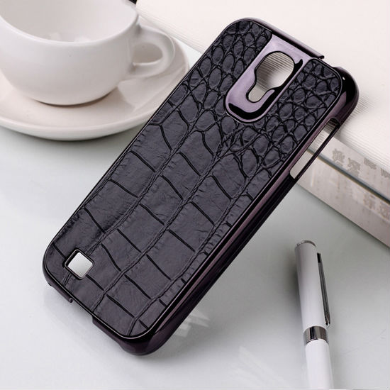 Superior chrome sticker i9500 cover leather case for samsung galaxy s4