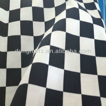 White black big check design fabric cotton