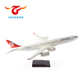 Airbus A340 airplane model 38/48/75cm resin plane model with stand Turkish airlines scale aircraft gift