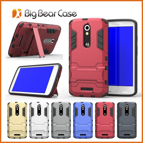 Factory slim armor cell phone cover for motorola moto x play