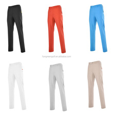 2016 Autumn Mens Personalized Polyester Cotton Golf Pants Colorful 6 Colors Trousers Factory OEM Brand Clothes Golf Clothing