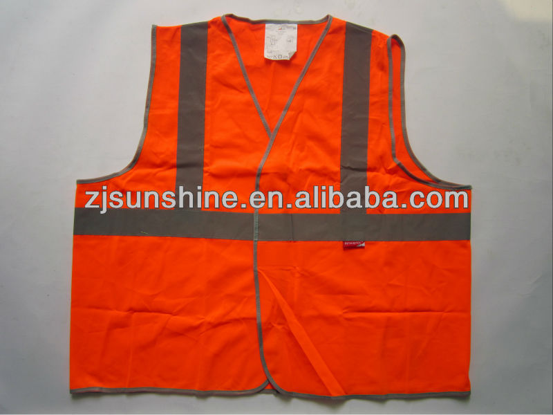 Coloured Kids Railway Mesh Polyester Safety Vest