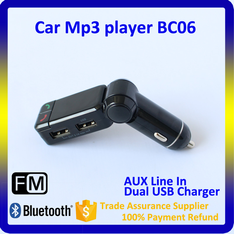 2015 Top Selling BC06 Bluetooth Car FM Transmitter, 12V Car AUX MP3 Player