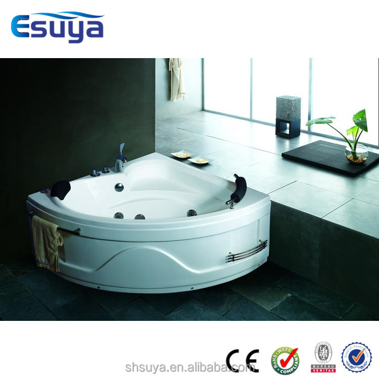 Jetted acrylic bathtub tub shower combo hot tub whirlpool for 6 tub shower combo