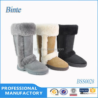 100% leather boots stylish high quality 100% leather boots TPR sole warm sheep fur wholesale leather boots