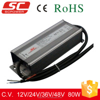 LED driver 80W 12V Triac dimmable constant voltage waterproof 12V 24V 36V 48V led power supply with CB TUV certificate