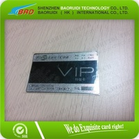 Elegant Metal Card for Valued Customers Loyalty System