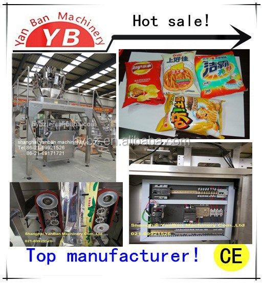 YB-420Z VFFS automatic ten heads weighter detergent powder packaging machine 50-1000g