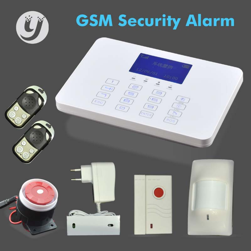 433/868MHz US homsecur wireless&wired gsm home security alarm system +pir sensor+ door sensor agent