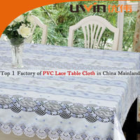 PVC heat resistant waterproof lace table cover,decoration tablecloth