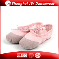 Fashion dance shoes Canvas Shoes with PU leather covered on the toe cap