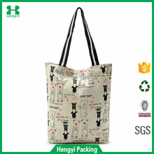 new design Customized useful cheap cute canvas cotton tote bag with logo