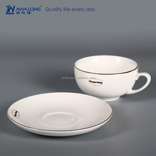 Logo Customized Bone China Coffee Cup Holder Tray, Hot Coffee Cup For Sale