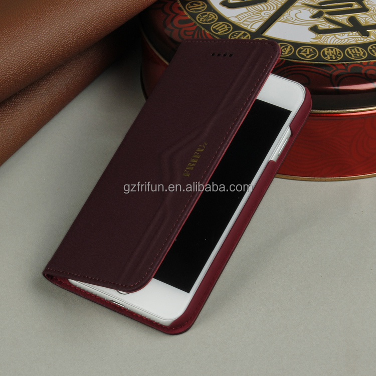 best price new handmade europe style leather phone case for iphone 7 classic 4.7 inch wine red book cell case