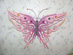 handicrafts Metal wall Art Home Decor jewelry wrought iron butterfly wall decor