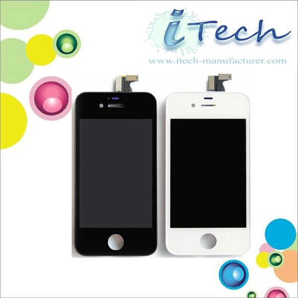 For apple iphone 4 golden lcd front screen +back cover assembly,for iphone 4 back cover assembly