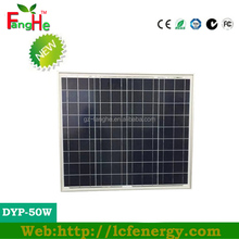 solar photovoltaic poly solar panels 50w with fast delivery