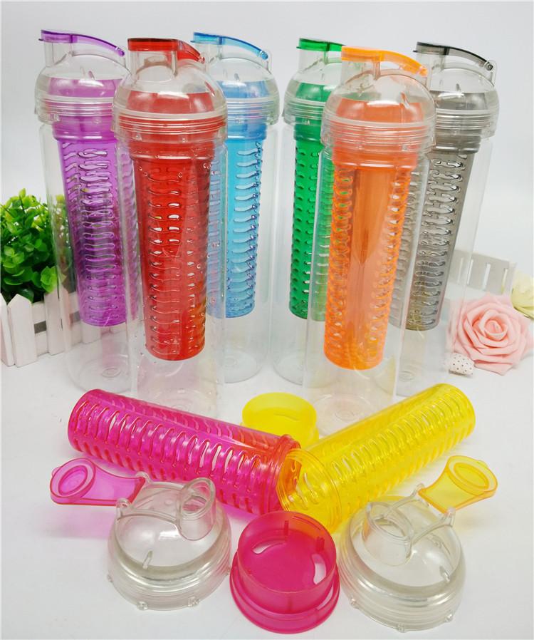 Logo personnalisé 27 oz SANS BPA Tritan Fruits Infuseur Bouteille D'eau
