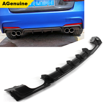 2 pipes on 2 sides carbon fiber back bumper lower lip car rear bumper diffuser for BMW 3 series F30 M-tech