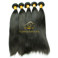 Top Quality 100% Unprocessed Wholesales Natural Black Hair Weft 8A Virgin Russian Straight Hair