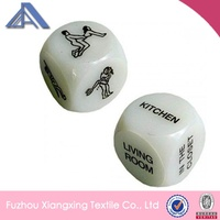 Logo printed fun play sex porn dice toys