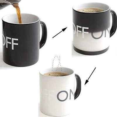 New arrival wholesale Funky Heat Sensitive Color Changing High-Grade Porcelain Fashion Coffee Mug best gift