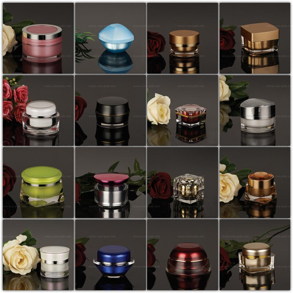 Good Quality Acrylic makeup containers wholesale cheap cosmetic jars
