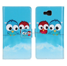 Cartoon Owl Pattern Stand PU Leather Flip Case For LG Optimus L9 II D605 With Retail Package