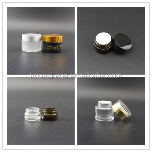 50g cosmetic glass packing clear jar, 30 ml and 50 ml frosted glass cosmetic cream jar
