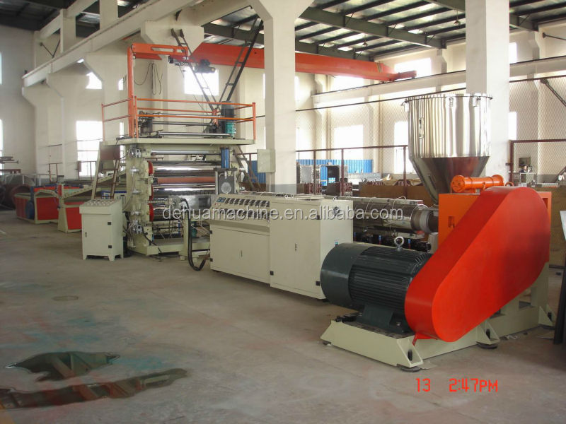 PP/PS/ABS/PE plastic sheet extrusion machine