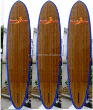 Hot sale bamboo veneer SUP stand up paddle boards/ SUP board with LED light system
