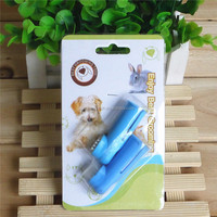 Dog pet finger teethbrush in blistercard for your pet health care