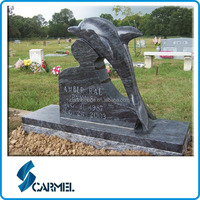 Bahama Blue Carving Dolphin Headstone