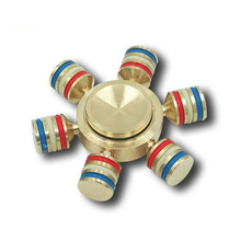 Wholesale 2017 most popular metal spinner factory price six axis ispin metal hand spinner Wheel metal hexagon fidget spinner
