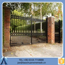 2015 Modern Ornamental White Double Opening Gate/Iron Gate/Steel Gate For Garden Home