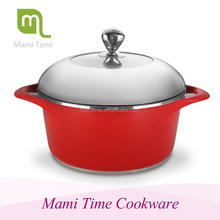 10pcs Die-casting Aluminium Red Cookware Sets/colorful and new design kitchen cookware set