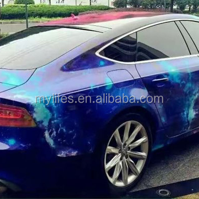 1.52*30m 0.15mm air free bubbles Starry Sky design bomb film camouflage car wrapping