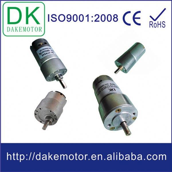 37mm high torque low rpm dc geard motor