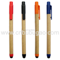 Environmental recyclable ball pen touch screen pen for office supply