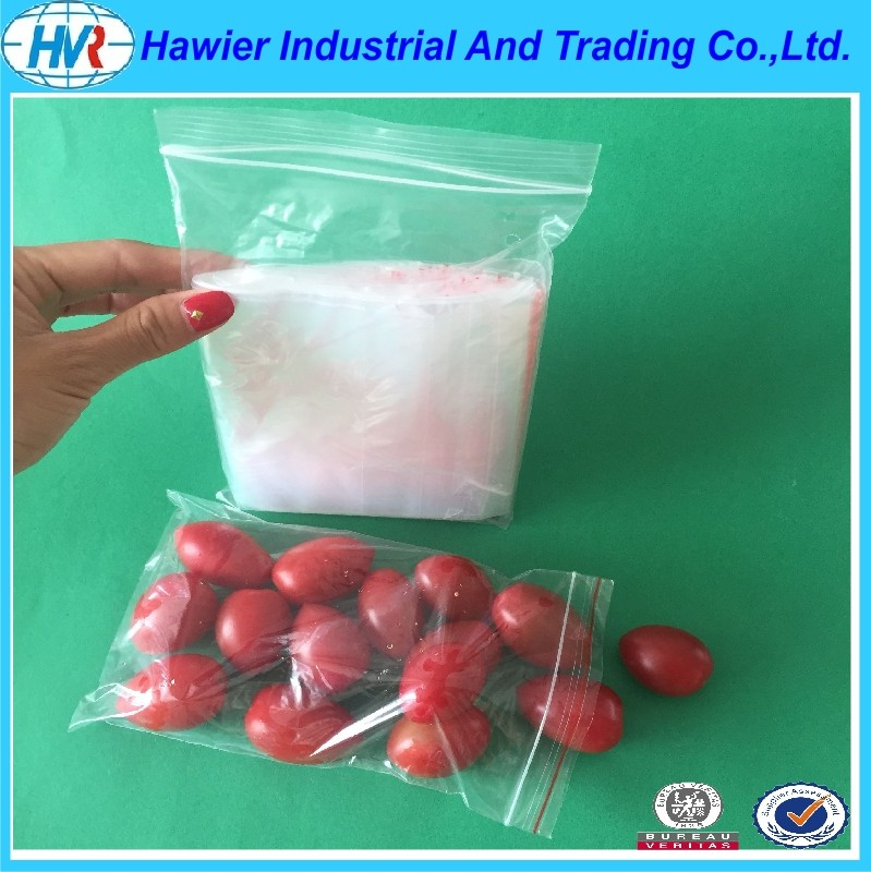 Custom size plastic zipper food packaging from Hawier