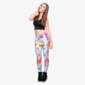 Fashion Fast Food Comix 3D Printing Punk Women Ladies Stretchy Trousers Casual Pants Leggings