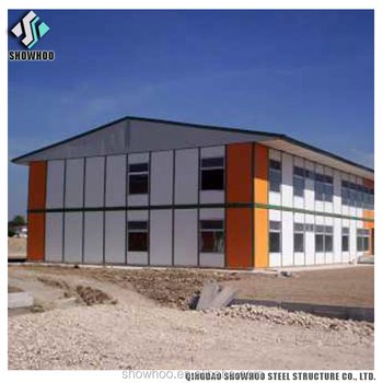 Light Steel Structure Two Storey Prefab Office Building