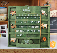 Unique design eco-friendly wooden desk calendar for home decoration