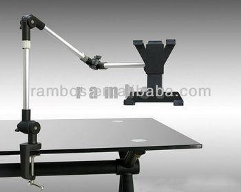 Long Gooseneck Arm Clamp Tablet Holder Desk Desktop Mount