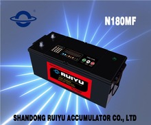 Long life truck/auto/lorry/motor vehicle battery N180 MF 12V 180ah
